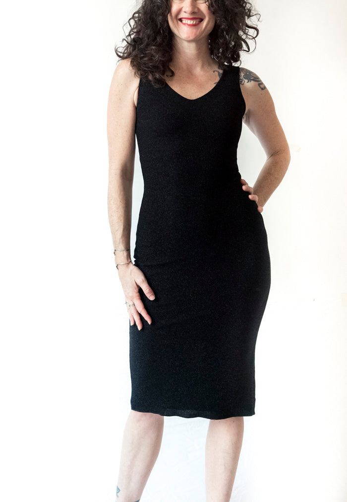 DRESS - Pencil Dress in Shiny material (in various colors)