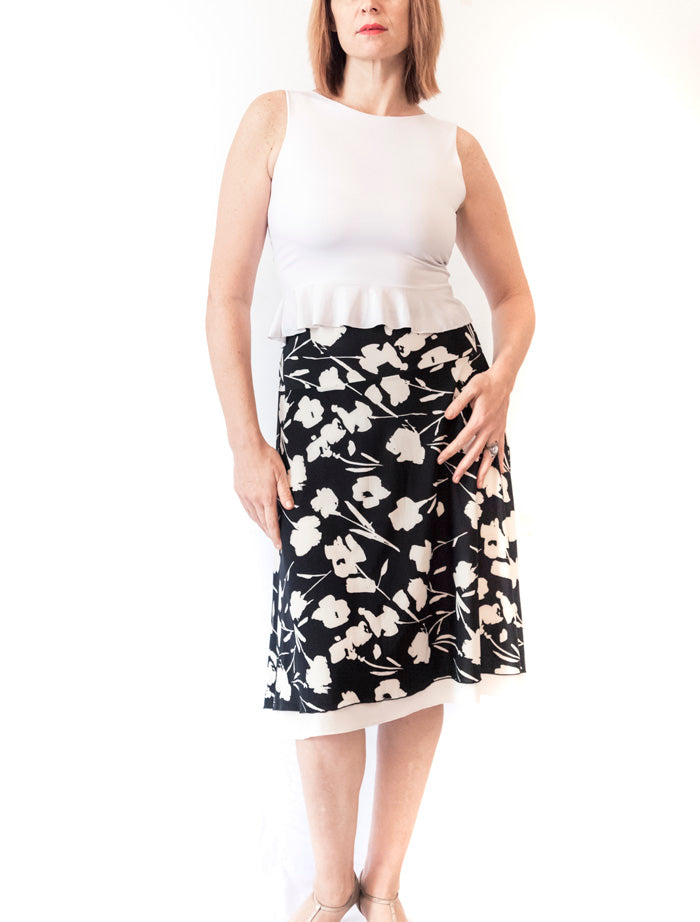 SKIRT - A-line skirt double layer (in various colors)
