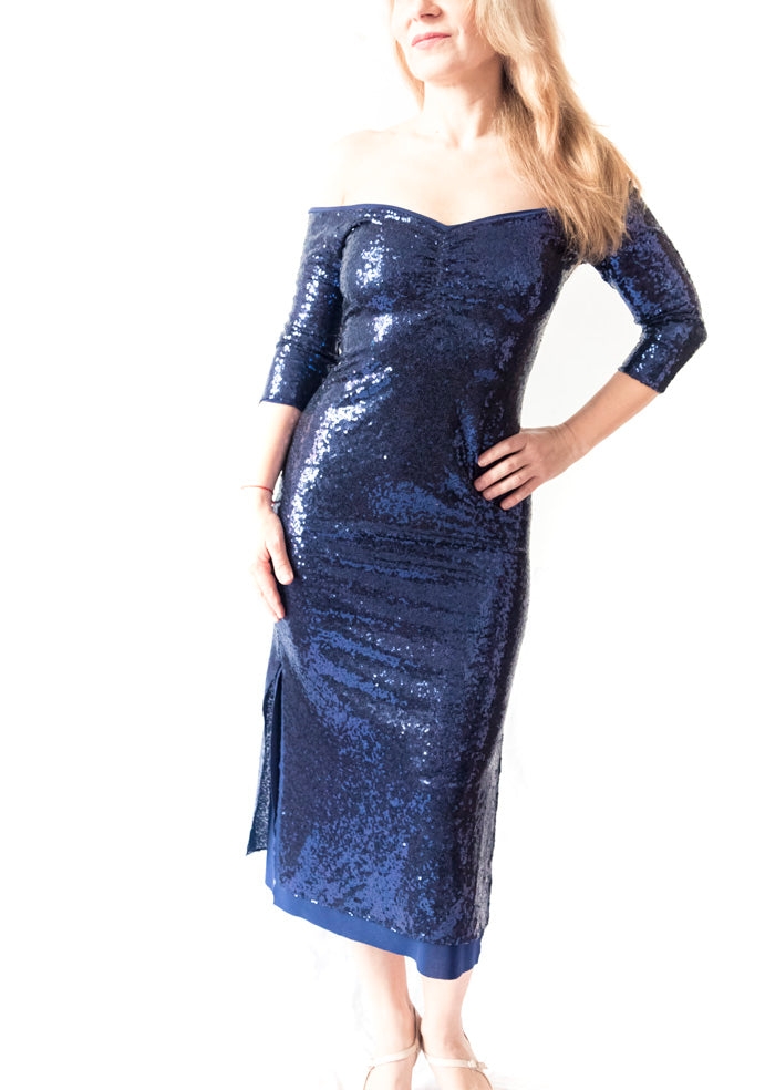 DRESS - Nico Maxi dress in sequin material (in varios colores)