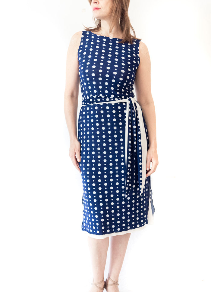 DRESS - Jaquie Tokyo reversible dress with tail and belt (in various patterns and colors)