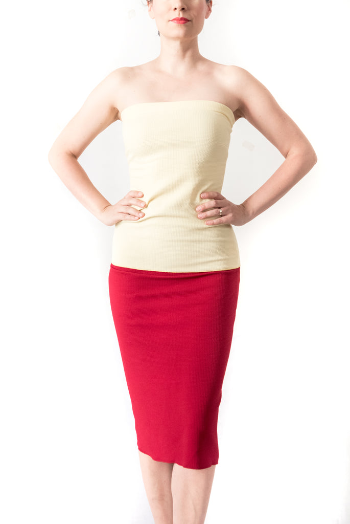 SKIRT - Pencil skirt in pique (in various colors)