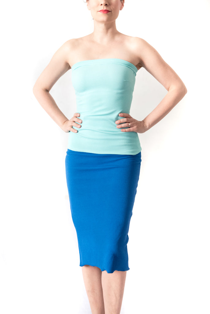 TOP Strapless in pique material (various colors)