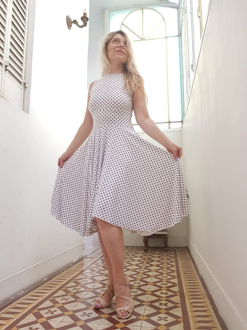 DRESS - Nayla in pique (in various colors / patterns)