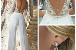 How to Accessorize Bridal Trends: Jumpsuits