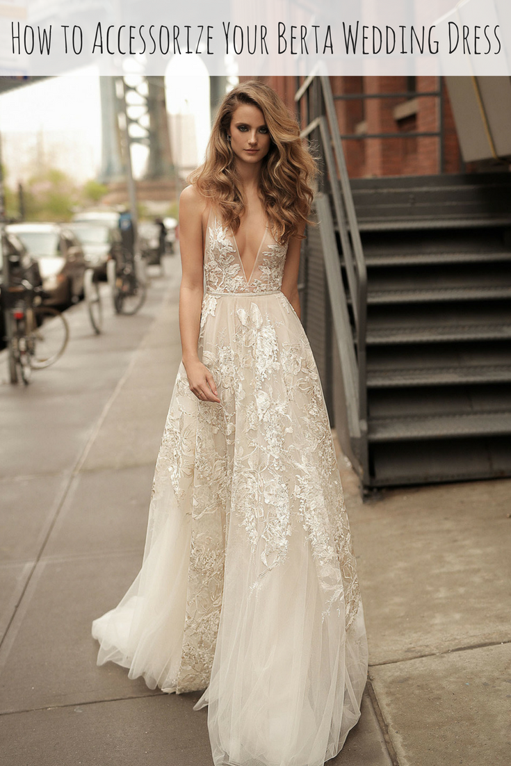 How to accessorize your deep v berta wedding dress amy o bridal junglespirit Choice Image