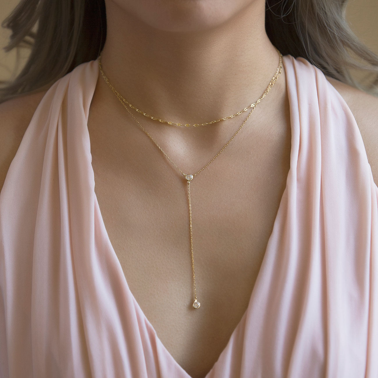 Dakota Layered Lariat Necklace