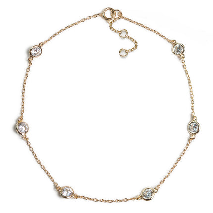 Crystal Chain Anklet