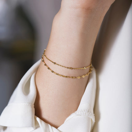 Double Layered Chain Bracelet