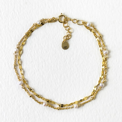 Perla Double Wrap Chain Bracelet