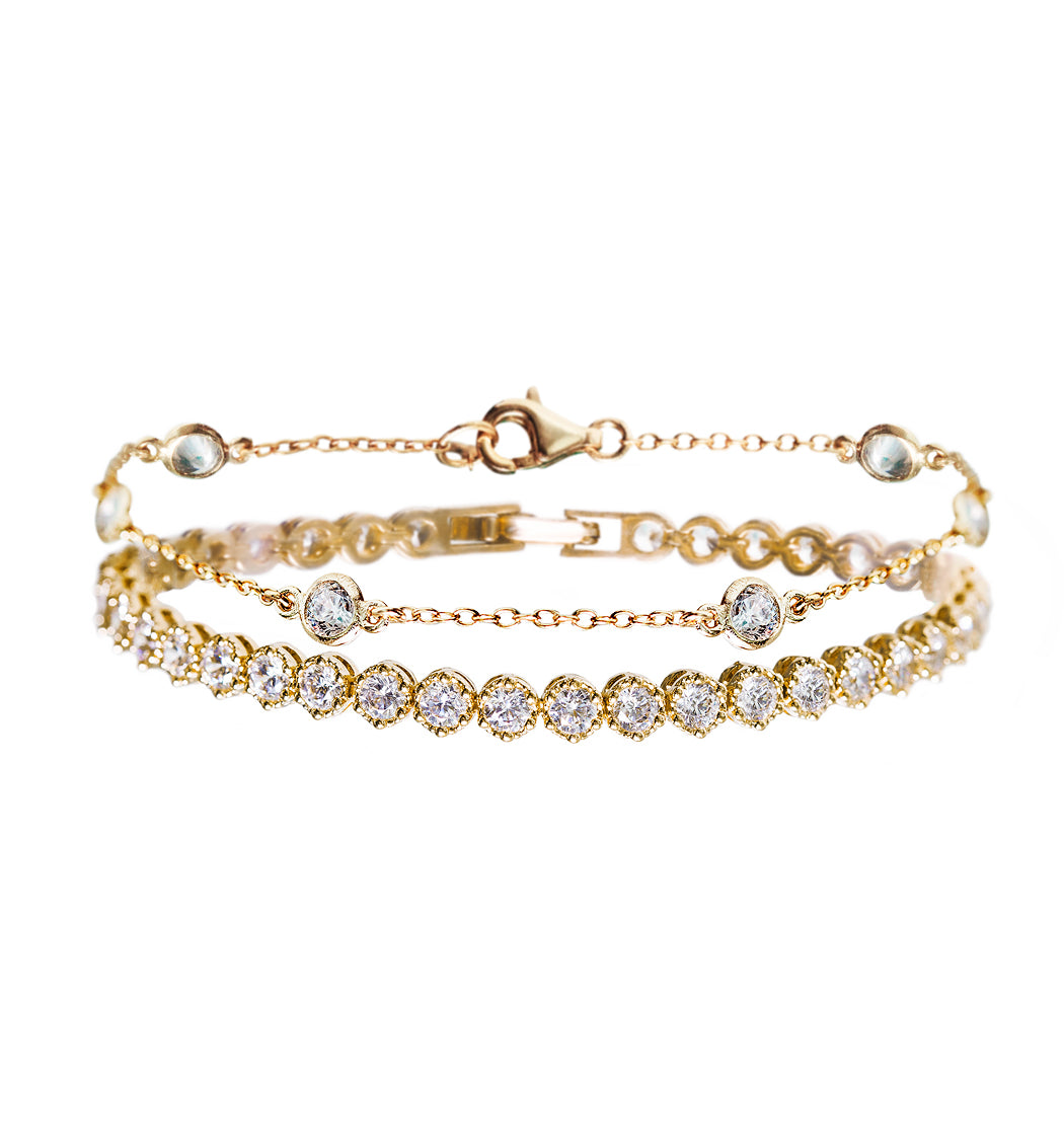 Dakota Crystal & Regal Tennis Bracelets - Amy O. Bridal