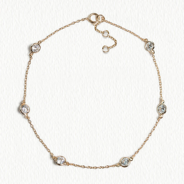 Dakota Crystal Chain Bracelet