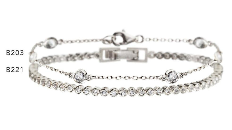Dakota & Regal Petite Tennis Bracelets - Amy O. Bridal