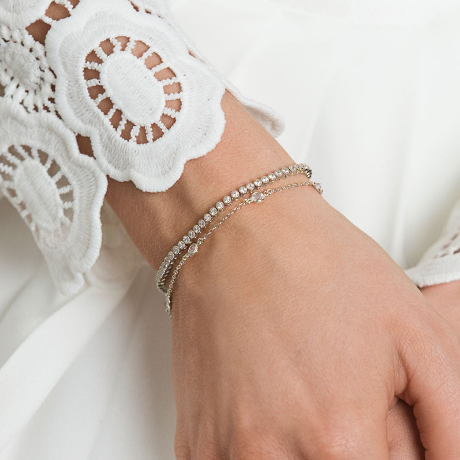 Dakota Crystal Chain Bracelet - Amy O. Bridal