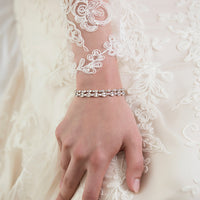 Mosaic Crystal Tennis Bracelet - Amy O. Bridal