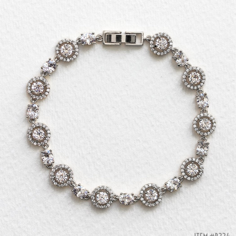 Sophia Halo & Regal Tennis Bracelets - Amy O. Bridal