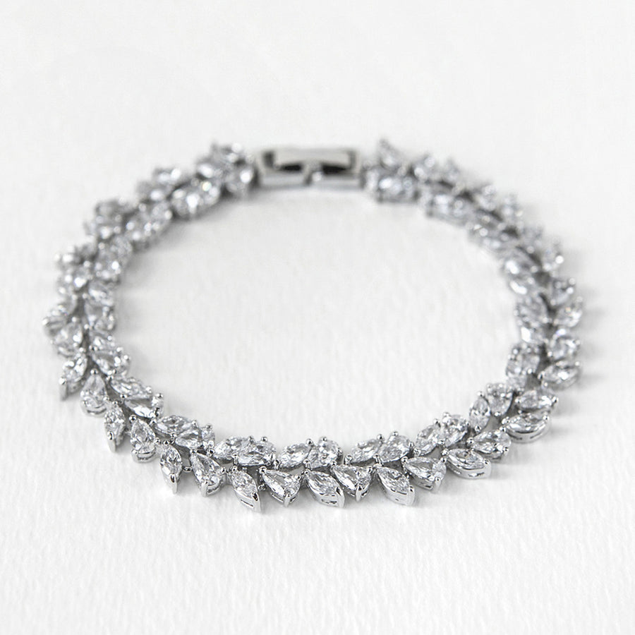 Marquise Drop Tennis Bracelet - Amy O. Bridal