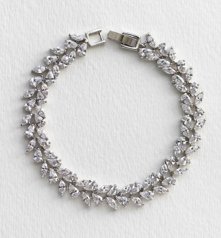Marquise and Drop Tennis Bracelet