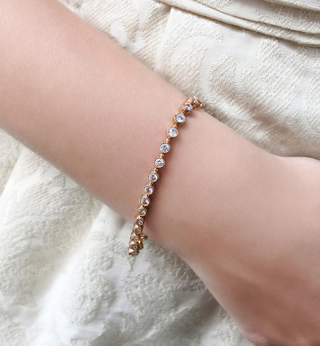 Classic Tennis Rose Gold Bracelet