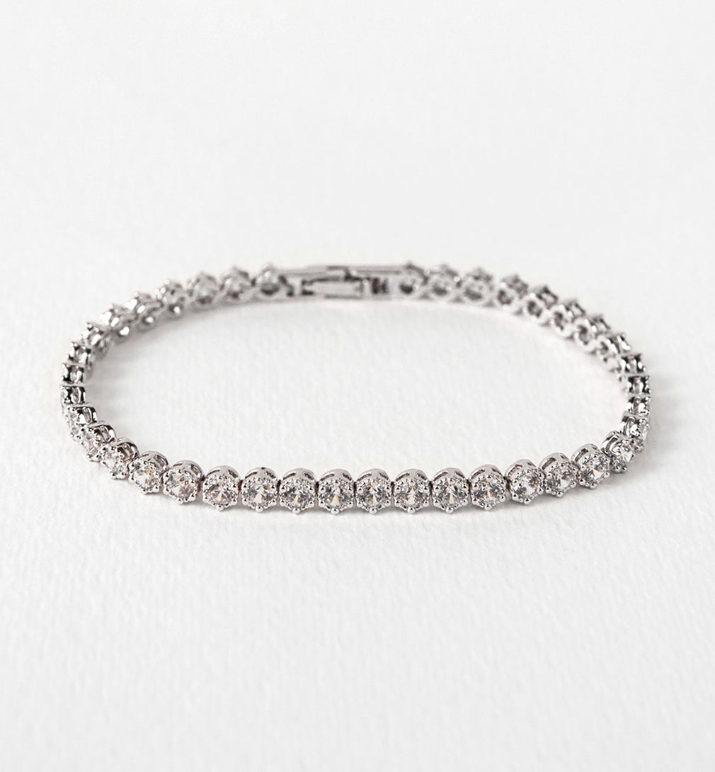 -*Deco Tapered Baguette & Regal Tennis Bracelets - Amy O. Bridal