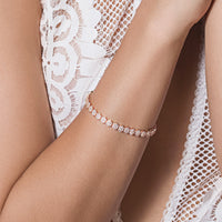 Daisy Eternity Tennis Bracelet - Amy O. Bridal