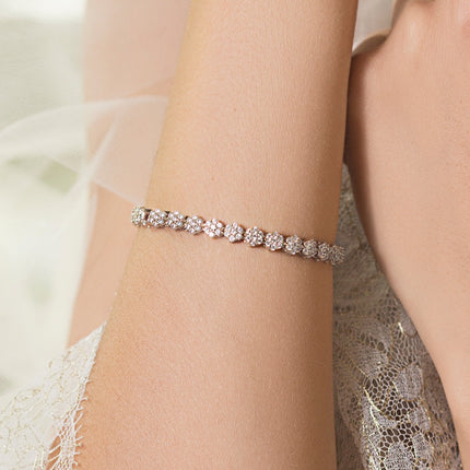 Daisy Eternity Tennis Bracelet