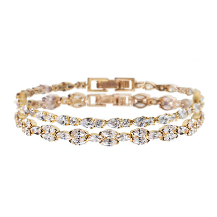 Marquise Deco & Mosaic Crystal Tennis Bracelets