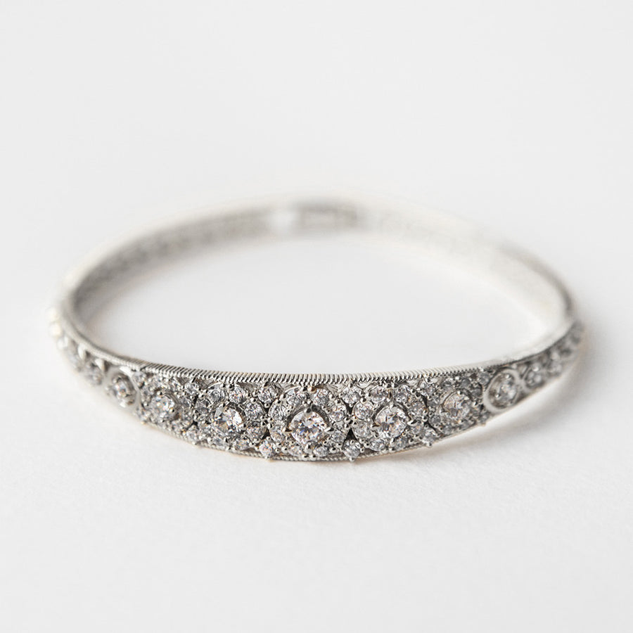 Deco Vintage Bangle Bracelet - Amy O. Bridal
