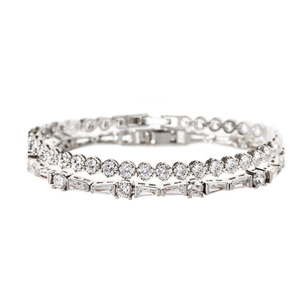 Deco Tapered Baguette & Regal Tennis Bracelets