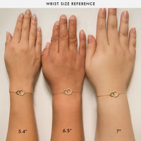 caption:Model Wrist Sizes: 5.4in , 6.5in , 7in
