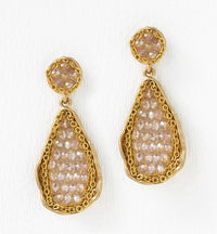 Swarovski Beaded Drop Earrings - Amy O. Bridal