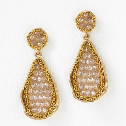 Swarovski Beaded Drop Earrings