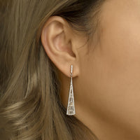 Deco Long Baguette Earrings