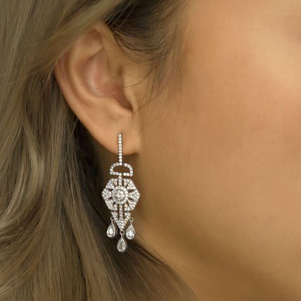 Deco Chandelier Dangle Earrings