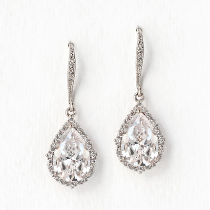 Margaux CZ Teardrop Earrings