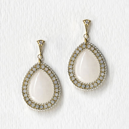 Jardin Moonstone Tear Drop Earrings
