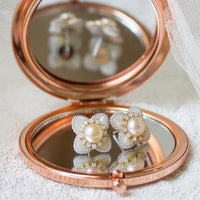Flora Mother of Pearl Stud Earrings - Amy O. Bridal