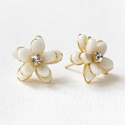Flora Quartz Stud Earrings