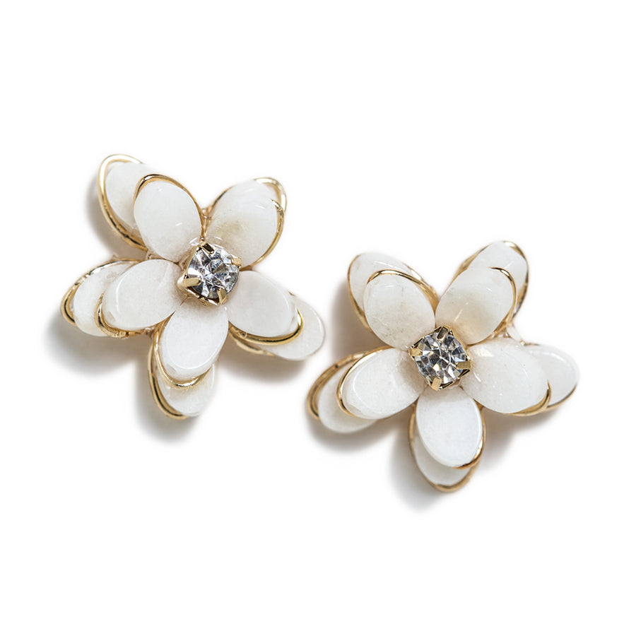 Flora Quartz Stud Earrings - Amy O. Bridal
