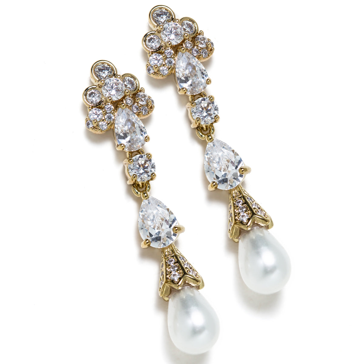 Jolie Vintage Pearl Drop Earrings