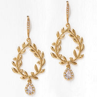 Ivy Halo Teardrop Earrings
