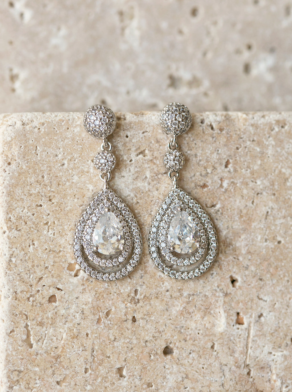 Margaux Silver Drop Earrings