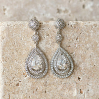 Margaux Drop Earrings - Amy O. Bridal
