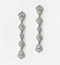 Regal Dainty Drop Earrings - Amy O. Bridal