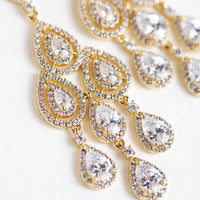 Margaux Teardrop Chandelier Earrings