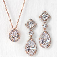Regal Princess Cut Jewelry Set - Amy O. Bridal