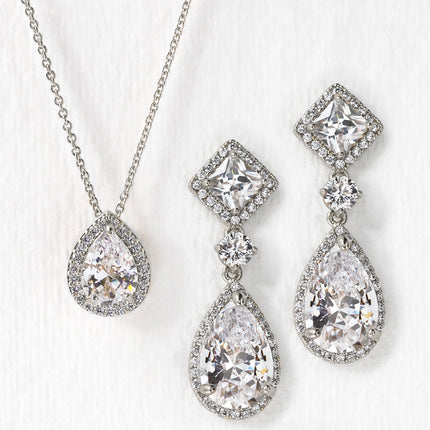 Regal Princess Cut Jewelry Set