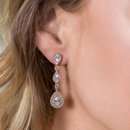 Margaux Linear Teardrop Earrings