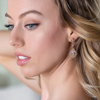 Deco Vintage Drop Earrings - Amy O. Bridal