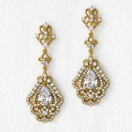 Deco Vintage Drop Earrings