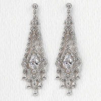 Deco Chandelier Earrings - Amy O. Bridal